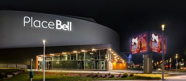 Bell Center in Laval Quebec. Place Bell, which open in september 2017, is the culmination of a major development initiative that will provide Laval residents royalty free stock photo