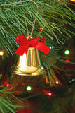 Bell at Christmas stock image
