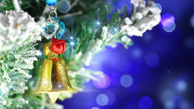 Bell christmas tree decoration close-up Stock Images