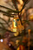 Bell on Christmas tree Stock Photography