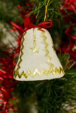 Bell on a Christmas tree Stock Photography