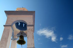 Bell church. Manolates. Samos island. Greece Royalty Free Stock Image