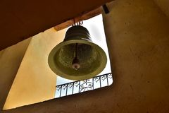 Bell in Church or Monastery of Saint Francis which houses the Museum of the Fight against Bandits Royalty Free Stock Photo