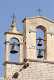 Bell on the church tower. With clear blue sky in the background Royalty Free Stock Photo