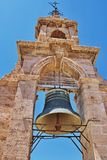 Bell in the church tower. Bell church Miguelete tower in Valencia, Spain Stock Image