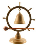Bell clock. Made from brass Royalty Free Stock Photography