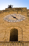 Bell and clock tower at Monreale cathedral, Sicily Royalty Free Stock Photography