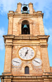 The bell and clock tower of St. John 's Co-Cathedral. Valletta, Stock Image