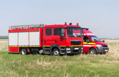 Fire engine & ambulance Royalty Free Stock Images
