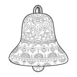 Bell coloring book for adults vector Royalty Free Stock Image