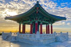 Bell coréenne de l'amitié San Pedro California Photos stock