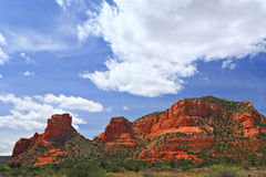 Bell and Courthouse Rocks Stock Photo
