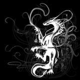 Bell Dragon. Design element, elements separate, gradient used vector illustration