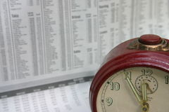 Bell e jornal Fotografia de Stock