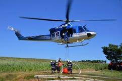 Bell 412 en la acción Fotografía de archivo