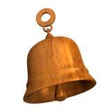 Bell en la madera - 3D Foto de archivo libre de regalías