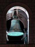 Bell en la torre de alarma de Dubrovnik por noche Foto de archivo