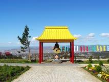 Bell en templo budista imagen de archivo