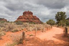 Bell-Felsen auf schwermütigem Wetter Lizenzfreie Stockfotografie