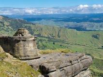 Bell-Felsen in der Maungaharuru Reichweite nahe Hawke Schacht, NZ Stockbilder