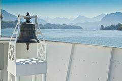 Bell on a ferry in Switzerland Royalty Free Stock Photography