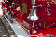 Bell on fire engine Royalty Free Stock Image