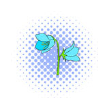 Bell flower icon, comics style. Bell flower icon in comics style isolated on white background Royalty Free Stock Photo