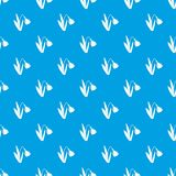 Bell flower pattern seamless blue. Bell flower pattern repeat seamless in blue color for any design. Vector geometric illustration Royalty Free Stock Image