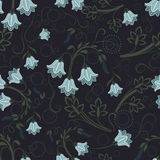 Bell-flower wallpaper pattern Stock Image