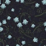 Bell-flower wallpaper pattern. Seamless bell-flower floral wallpaper pattern Stock Image