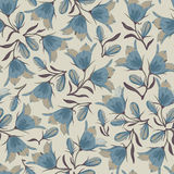 Bell flowers seamless pattern Royalty Free Stock Photos