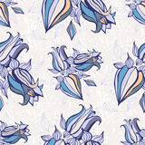 Bell flowers. Seamless Vector background Royalty Free Stock Image