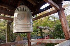 Bell, front of Shinto temple - Japan royalty free stock photo