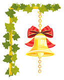 Bell from gild on chain Royalty Free Stock Images