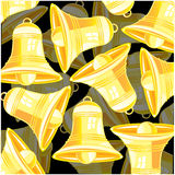Bell from gild. Golden bell on dark background is insulated royalty free illustration