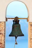 Bell of a greek church Stock Photos