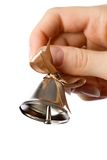 Bell in the hand Royalty Free Stock Photo