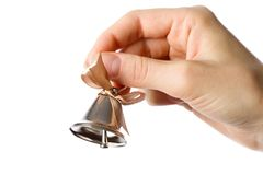 Bell in the hand Stock Photography