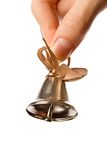 Bell in hand Stock Photography