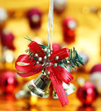 Bell Hanging Christmas decoration Stock Images
