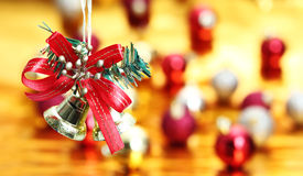 Bell Hanging Christmas decoration Royalty Free Stock Photo