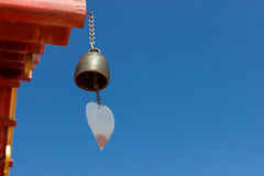Bell hanging from the temple roof Stock Photos