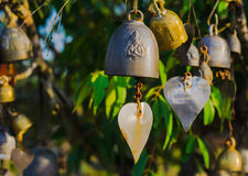 Bell hanging on a tree Stock Images