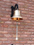Bell hanging. On the wall Royalty Free Stock Photos