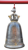Bell hanging on a wooden red Royalty Free Stock Photo