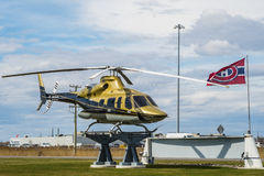 Bell Helicopter. Is an American rotorcraft manufacturer headquartered in Fort Worth, Texas. A division of Textron, Bell manufactures military helicopter and Stock Images