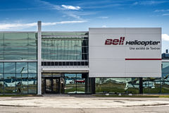 Bell Helicopter. Is an American rotorcraft manufacturer headquartered in Fort Worth, Texas. A division of Textron, Bell manufactures military helicopter and Royalty Free Stock Image