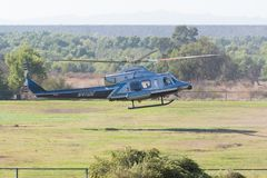 BELL 412 helicopter during Los Angeles American Heroes Air Show. Lakeview Terrace, USA - November 4, 2017:  BELL 412 helicopter during Los Angeles American Stock Image