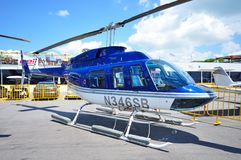 Bell helicopter at Singapore Airshow 2010 Royalty Free Stock Photo