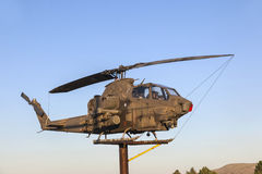 Bell Helicopter at Veterans Memorial Royalty Free Stock Photos